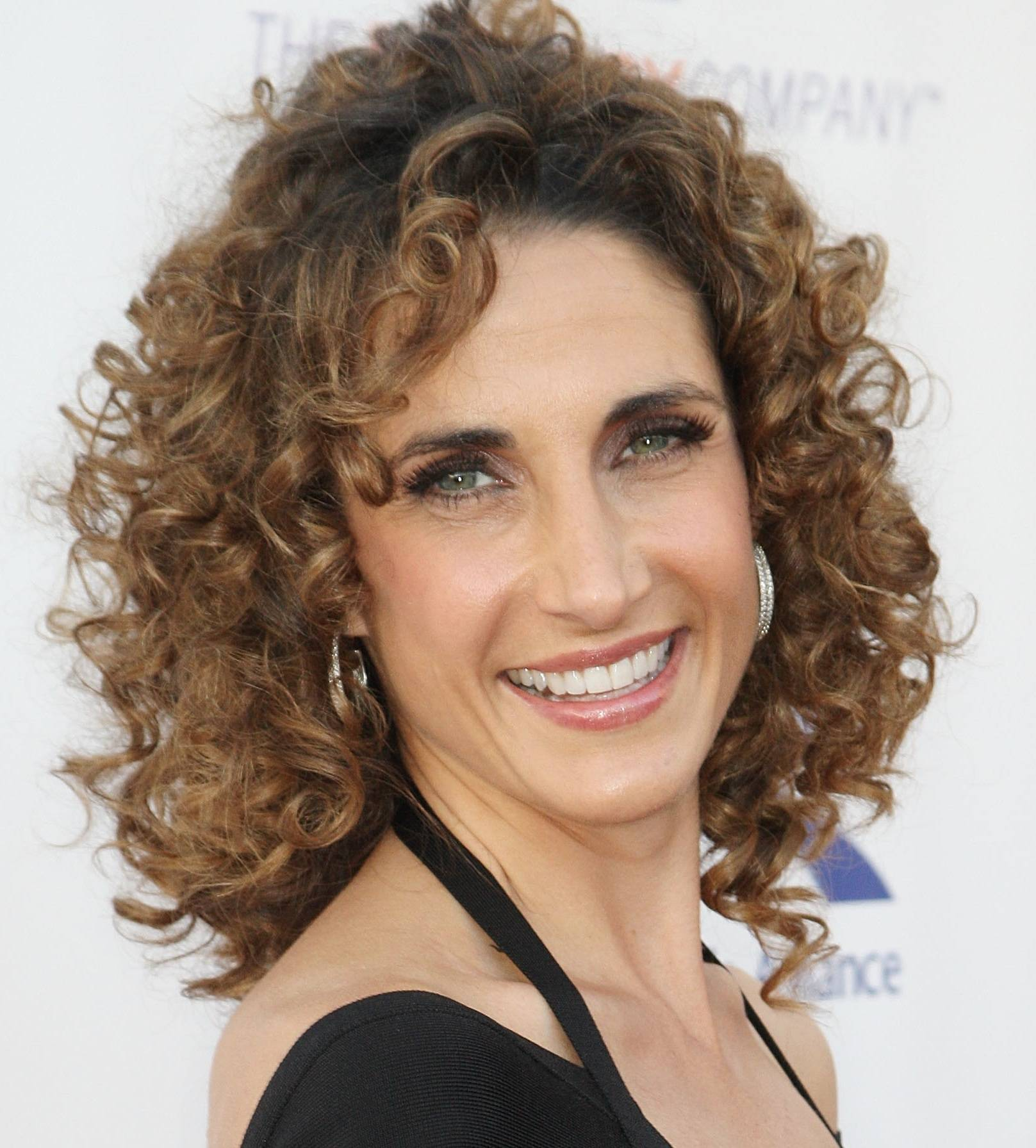 Melina Kanakaredes Short Brown Curly Style Cool Curly Hair