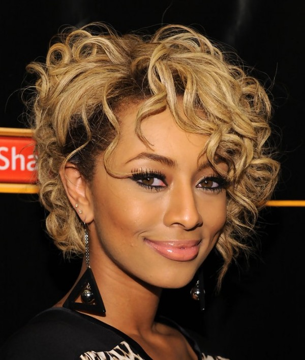 keri-hilson-Trendy-Short-Curly-Hairstyle