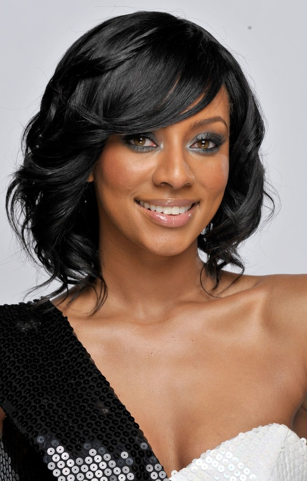Keri Hilson Medium Length Curly Hair Style
