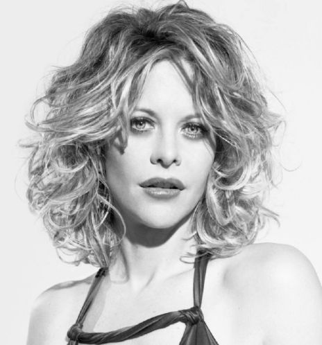Meg Ryan Medium Length Curly Hair Style
