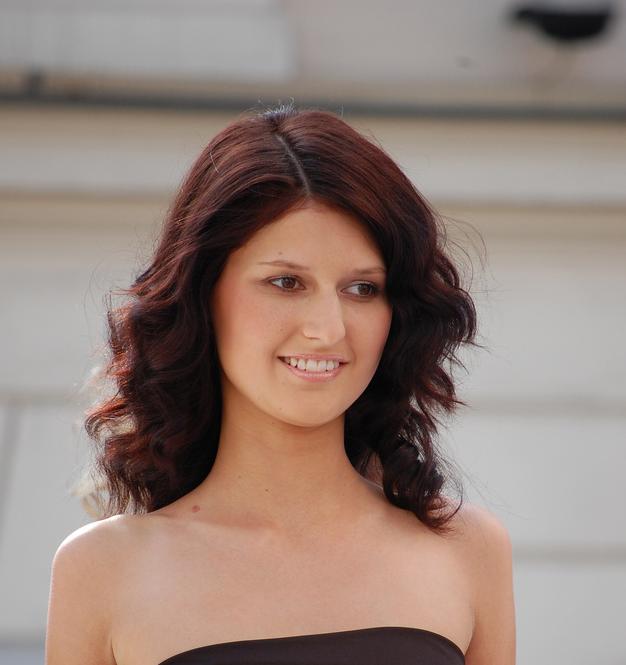 Reddish Brown Medium Length Curly Hairstyle