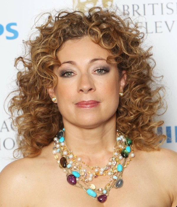 Alex Kingston - Medium Length Curly Hairstyle