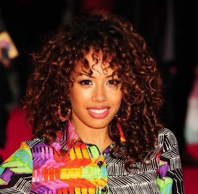Jade Ewen Medium Length Curly Hairstyle