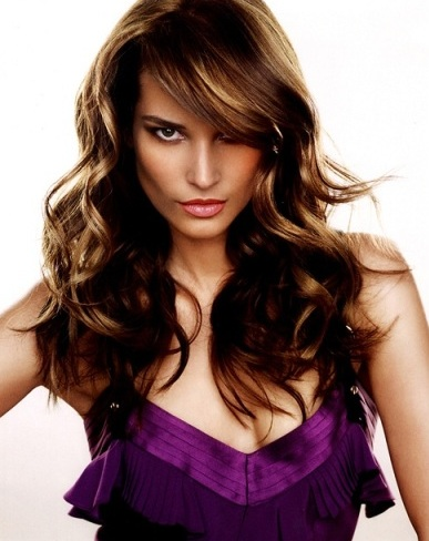 Brown Long Wavy Hair Style