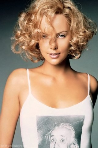 Charlize Theron Short Bob Curly Hair Style