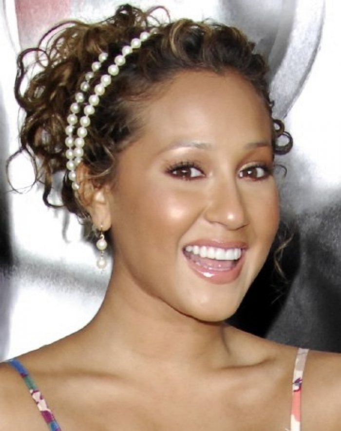 Adrienne Bailon Curly Hair Style Updo Cool Curly Hair