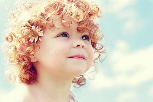 Little Girl Red Curly Hair Style
