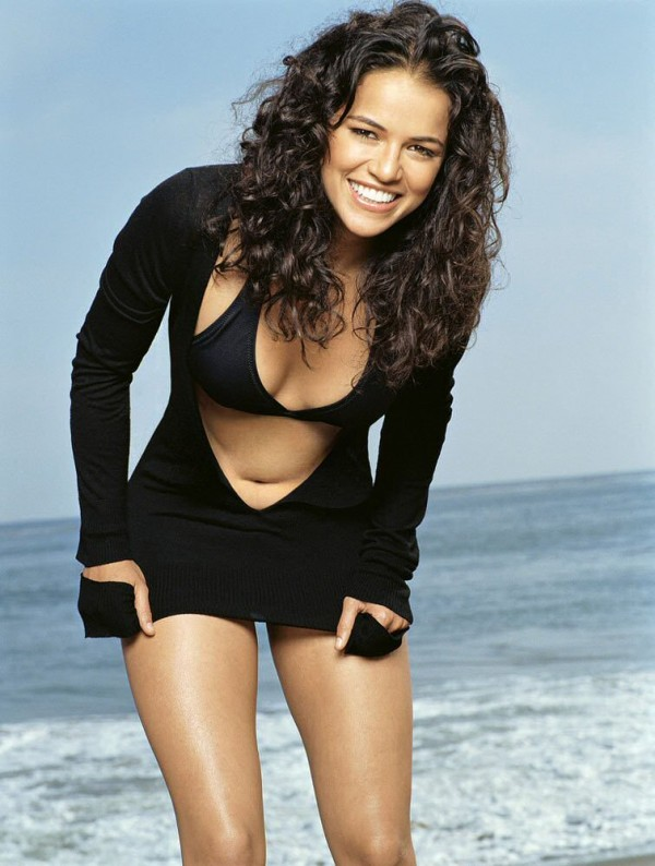 Michelle Rodriguez Curly Hair Style