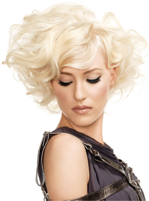 Blonde Short Curly Hair Style