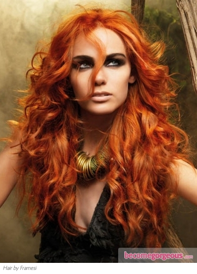 Red Sonya Curly Hair Style